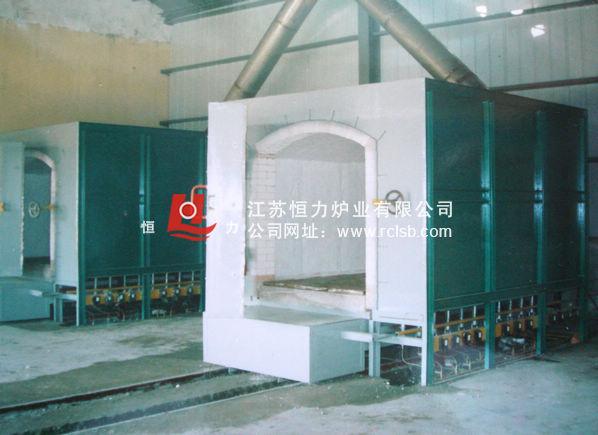 台车式液化气焙烧炉(炉门侧开)结构图