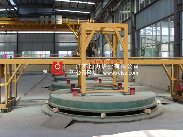 井式电阻炉内部结构示意图