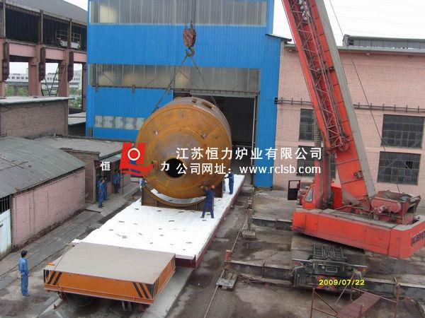 大型压力容器台车炉结构图